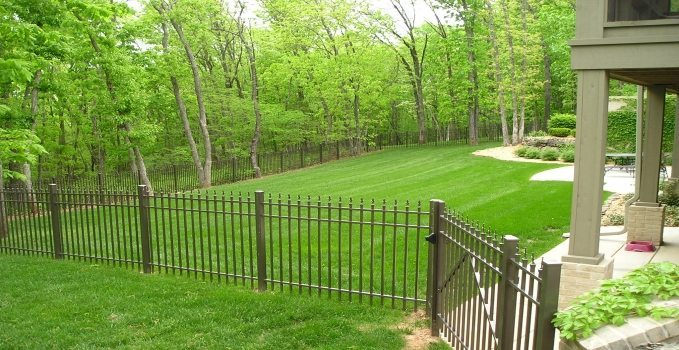 FENCE INSTALLATION ON A SLOPE